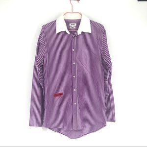 Moschino striped button down shirt slim fit L